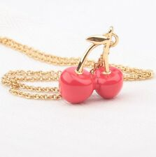 KATE SPADE 12K Gold Plated Red Cherry Necklace NEW