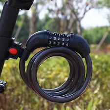 Secure 5-Digital Password Bike Lock Cable Combination Lock MTB Bicycle Protector