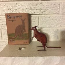 Kangaroo Hopping Jumping Windup Tin Toy Clockwork Mechanism