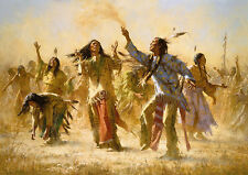 "Howard Terpning    ""Hope Springs Eternal -The Goast Dance""  MAKE  OFFER   WG DSS"