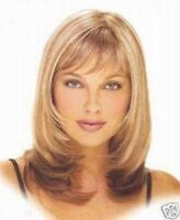 Fashion Medium Mix blonde Curly lady's Synthetic Hair Cosplay Wigs+/Wig Cap Gift