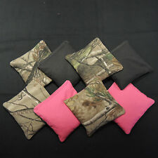 Realtree Black & Pink Camo Corn Hole Bean Bags Set Of 8 Choose Your Color!!!