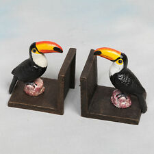 Cast Iron Antiqued Toucan Bookends