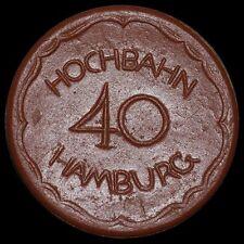 WERTMARKE: 40 Pfennig, Porzellan / Böttger-Steinzeug - Meissen. HOCHBAHN HAMBURG