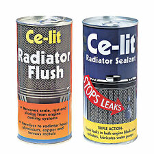 Ce Lit Car Radiator Cooling System Cleaner Flush + Stop Leak Sealant Weld Set