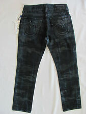 True Religion Straight w/ Flaps Jeans - Laser Resilient Camo -Size 30 - NWT $268