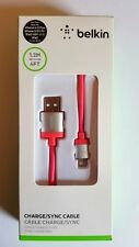 Aluminium Belkin USB Cable For iPhone 6S 6 7 5 5S 5C iPad Data Charger Lead Cord