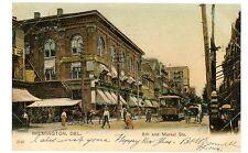 Wilmington DE - TROLLEY ON 8TH & MARKET STREET - Postcard Delaware