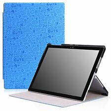 "MoKo Microsoft Surface Pro 4 Slim Case/Stand 12.3"" Tablet- Cutie Charm BLUE"