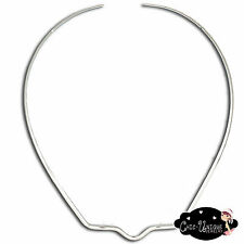 New Unique Shiny Silver Square Notched Choker Collar Necklace Wire (CV5)