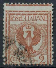 Italy 1901 SG#63, 2c Orange-Brown Used Perf Shift Error #D8823