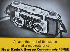 ADVERT CAMERA STEREO DUAL LENS RETRO PHOTOGRAPHY ART POSTER PRINT LV031