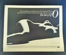 ORIGINAL 1976 THE STORY OF O Half Sheet Movie Poster 22 x 28 SEXPLOITATION