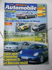 Le Moniteur Automobile 1374 Bmw Z4M Porsche Cayman S Nissan 350Z 911 Turbo C5