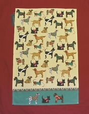 Dog Design Irish Weavers Cotton Tea Towel 'Hound Dogs' Mother Christmas Dog Gift