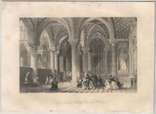 1870s Steel Engraving of the Lady Chapel, Abbey Church at St. Denis, France