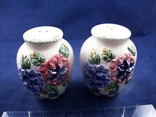 Pansy Country Ware Novelty Salt & Pepper Shakers NIB C14B25
