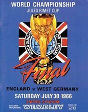 Fußball Weltmeisterschaft World Cup 1966 Programm Finale Final DFB England Repri