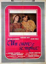 Joe Dallesandro Adriana Asti UN CUORE SEMPLICE manifesto 2F originale 1977