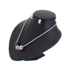 Black PU Jewellery Necklace Bust Display 18 cm Tall