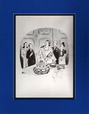 Chas Addams - NOT SO HAPPY BRIDE MATTED PRINT  Frame Ready