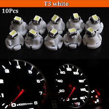 10x T3 White Neo Wedge SMD LED Light Instrument Cluster Panel Lamps Gauge Bulbs