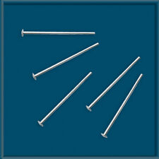 "100pcs 3/4"" Sterling Silver 925 HEAD PINS 24 gauge"