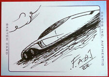 "Hand-drawn Sketch Card - FAB1, by James Ramsey - ""Thunderbirds"" The Movie"