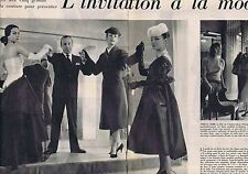 COUPURE DE PRESSE CLIPPING 1956 GENEVIEVE FATH-DIORJ.GRIFFE-DESSES (10 pages)