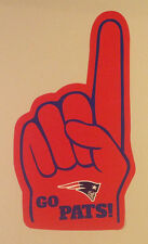 "New England Patriots FATHEAD #1 Foam Fan Finger Decal 25""x14"" NFL Wall Graphics"