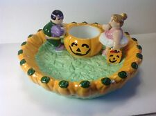 New Halloween Pumpkin Themed Chip & Dip or Candy Bowl by Lotus