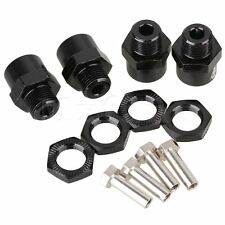 4pcs Black Alloy 12MM to 17MM Extended Wheel Hex Hub For RC1/10 Car N10178