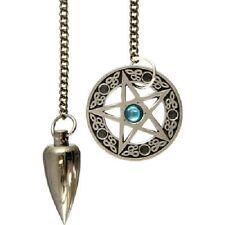 Pentagram Brushed Metal Pendulum Wiccan Pagan Metaphysical Divination 61274