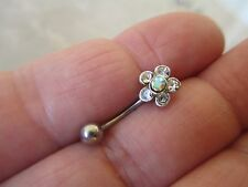 1 Pc Sparkle CZ Flower 316L Surgical Steel Rook or Eyebrow Curve 16G 10mm
