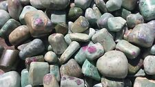 SIX (6) RUBY FUCHSITE TUMBLED STONES  MEDIUM/LARGE NATURAL TUMBLE STONES