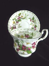 Royal Albert Bone China Flower of the Month DECEMBER Cup Saucer Christmas Rose