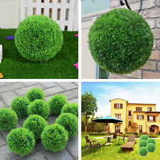 "11"" Plastic Conifer Topiary Ball Tree Boxwood Plant Outdoor Garden Decor 28cm"