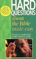 Hard Questions about the Bible Made Easy by Mark Water. Very Good! with chart