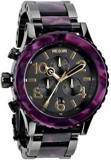 Nixon Men's 42 20 Chrono Analog Watch, Color: Gunmetal / Velvet