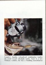 1959 Magazine Photo Langley Spinlite Deluxe Fishing Reels Williams Wobbler Lure