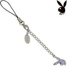Playboy Cell Phone Charm Bunny Logo Swarovski Crystals Mobile Box EASTER GIFT
