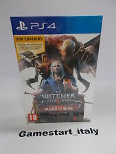 THE WITCHER III 3 WILD HUNT BLOOD AND WINE LIMITED - PS4 - NEW - PAL UK VERSION