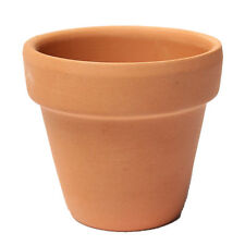 3pcs Brown Clay Small Terracotta Plant Flower Pot Holder Decor 8X8cm ED