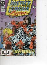 JUSTICE LEAGUE EUROPE 10  JAN 1990 VERY GOOD