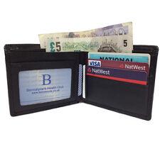 NUOVO Nero Uomo Gents In Morbida Ecopelle Carta di Credito ID Wallet Purse Titolare UK