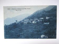 CARTOLINA ERNO- VELESO CON VILLA TERESA (LAGO DI COMO) 1925 VIAGGIATA-AI