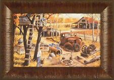 BASE CAMP #1 by Ken Zylla Tree House Boys Fort Farm 11x15 FRAMED PRINT PICTURE