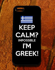 iPhone 4 case - Greek Flag Keep Calm impossible I'M Greek