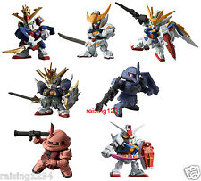 BANDAI SD Gundam Dash Real Type Color 01 Gashapon Figure (Set 7 pcs) Wing Zaku