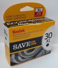 Kodak Black Ink Inkjet Cartridge 30XL 30BXL 30 Single Unit New In Box 1550532